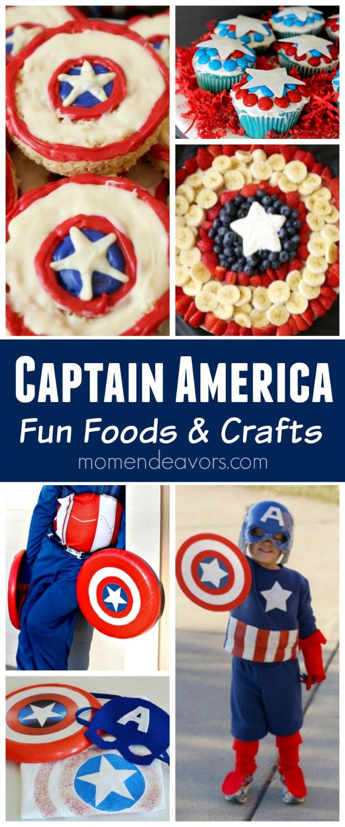 Captain America Fun Foods amp Crafts