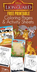 Disney Lion Guard Coloring Pages & Activity Sheets