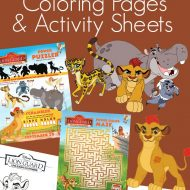 Disney's The Lion Guard Coloring Pages & Activity Sheets