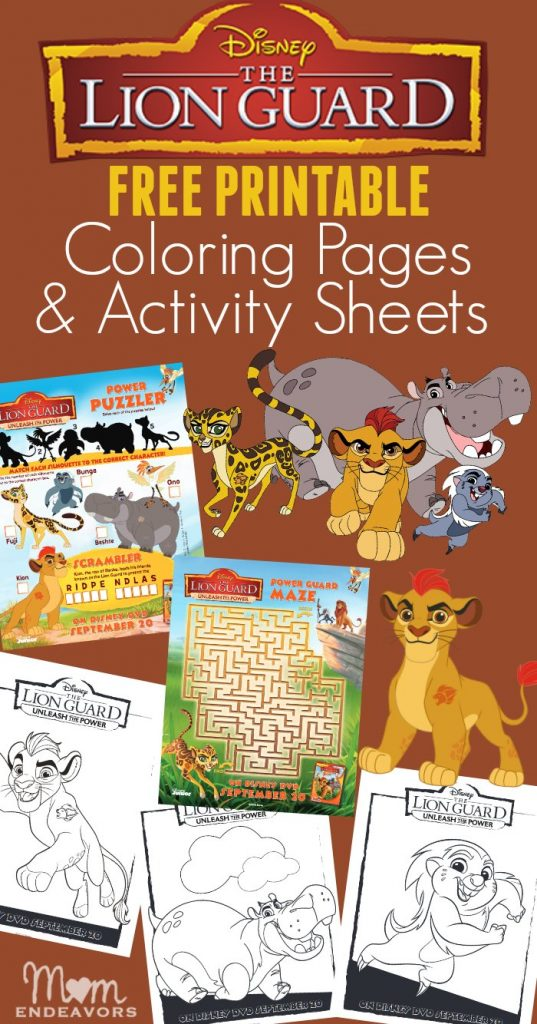 Disney S The Lion Guard Coloring Pages Amp Activity Sheets