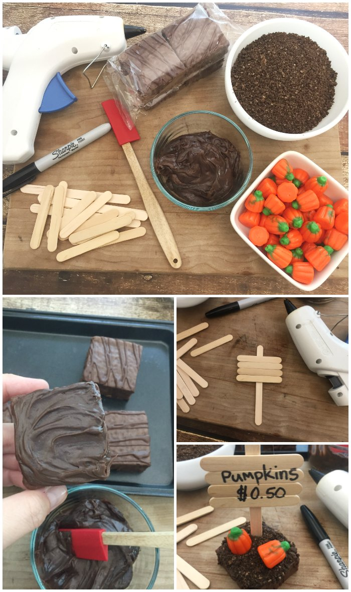 making-pumpkin-patch-brownies