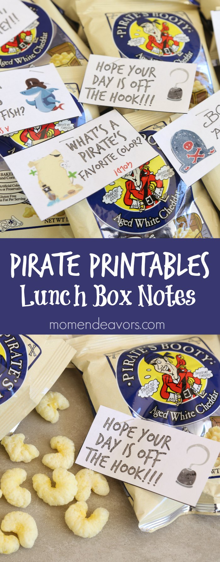 Pirate Printables Lunch Box Notes