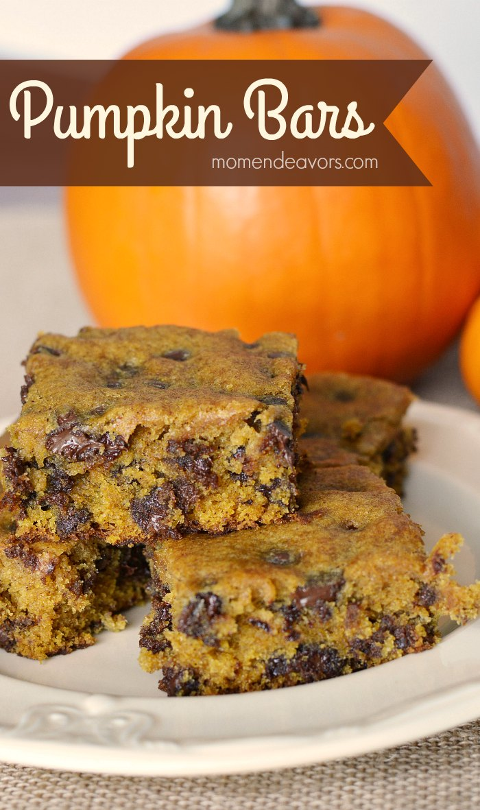 Pumpkin Chocolate Chip Bars Cake Mix