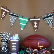 DIY Football Party Garland