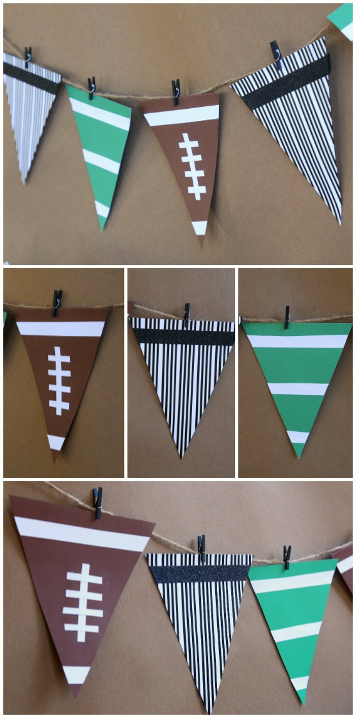 DIY Football Party Bunting
