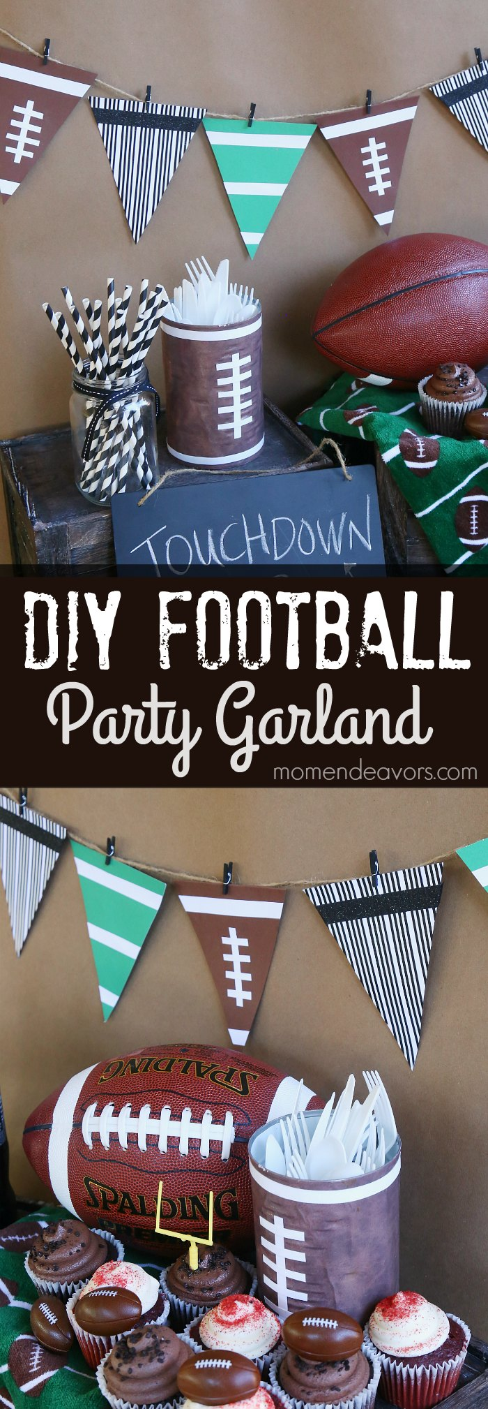 diy-football-party-garland