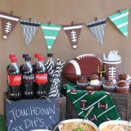 Easy Football Party  – Touchdown Dip Bar
