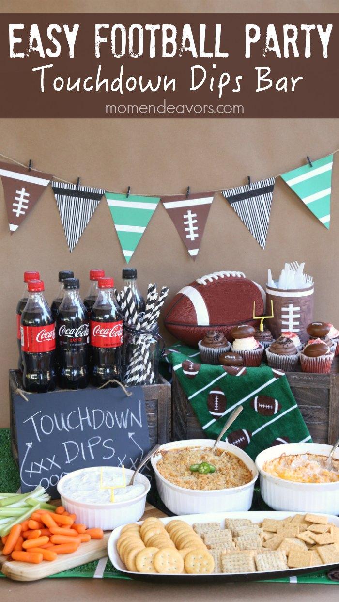 football-party-idea-touchdown-dips-bar