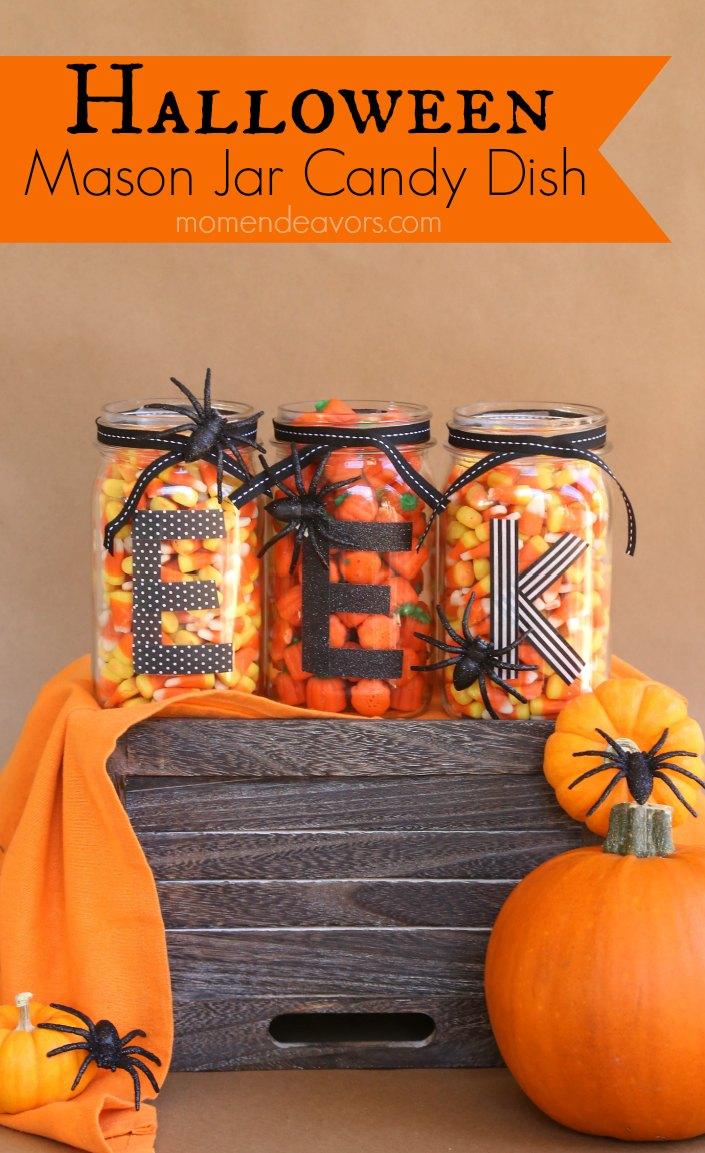 easy diy halloween mason jars