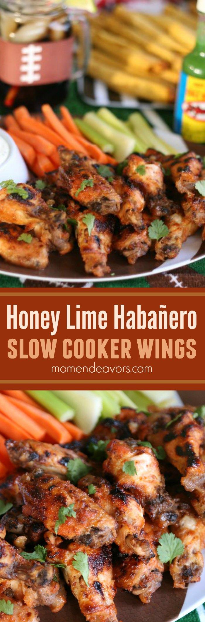 Honey Lime Habañero Slow Cooker Wings