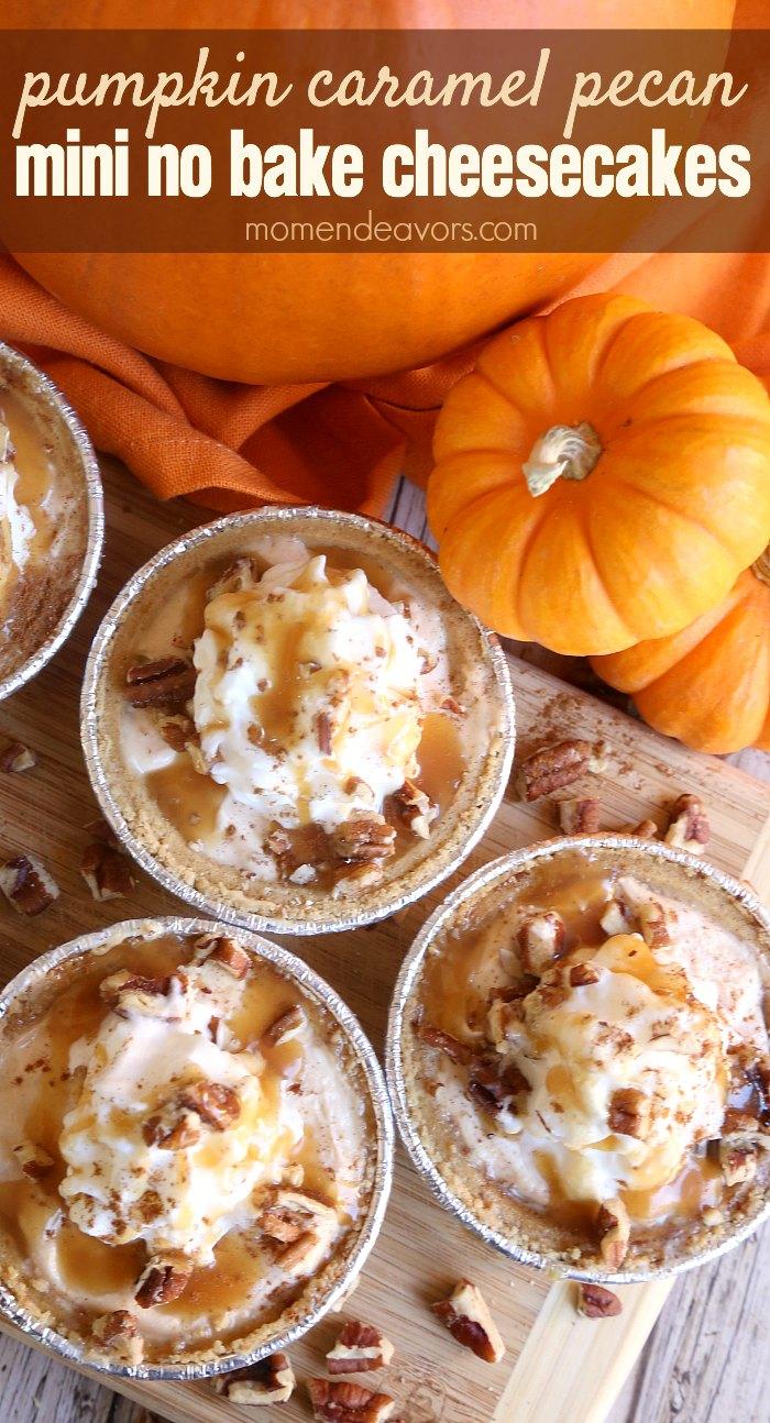 mini-pumpkin-caramel-pecan-no-bake-cheesecakes