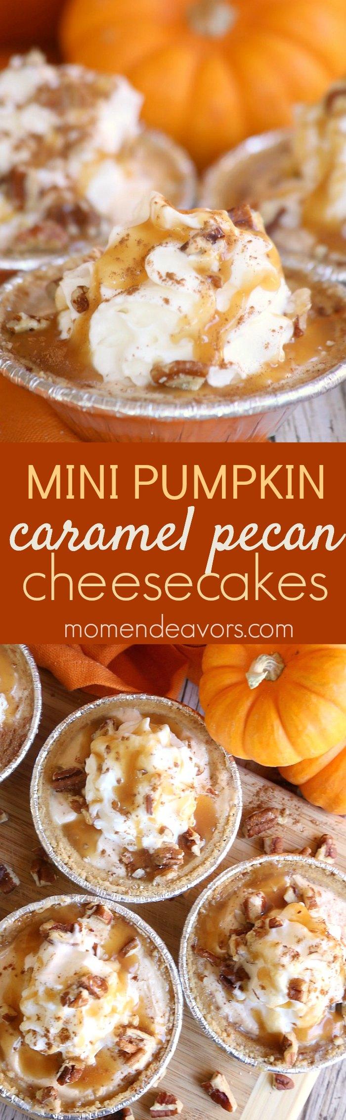 mini-pumpkin-pie-caramel-pecan-cheesecakes