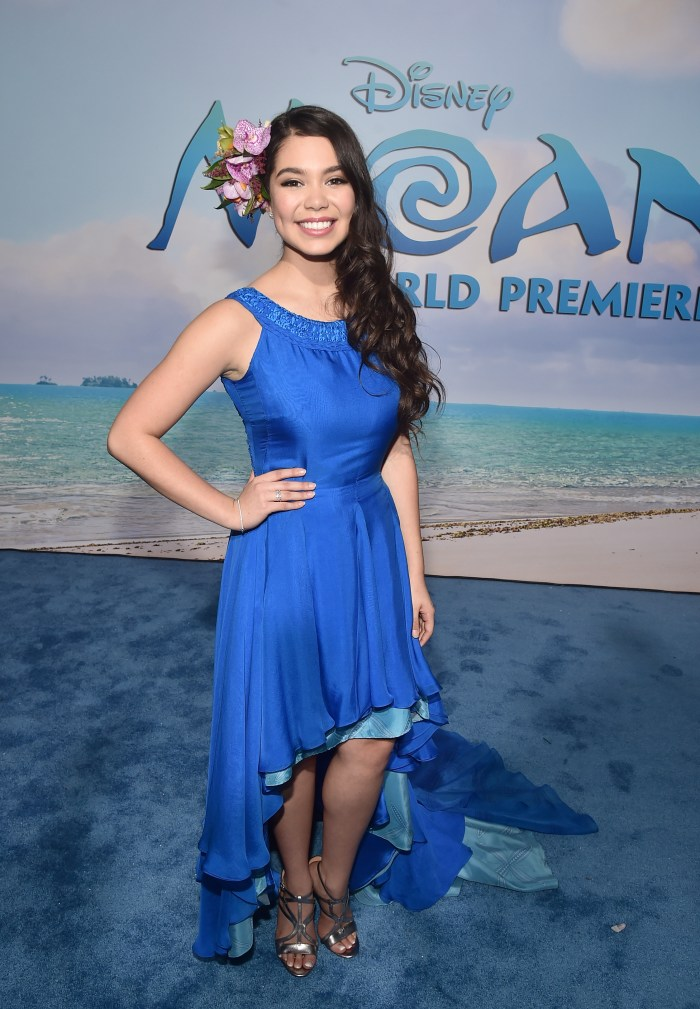 "HOLLYWOOD, CA - NOVEMBER 14: Actress Auli'i Cravalho attends The World Premiere of Disney's ""MOANA"" at the El Capitan Theatre on Monday, November 14, 2016 in Hollywood, CA. (Photo by Alberto E. Rodriguez/Getty Images for Disney)"