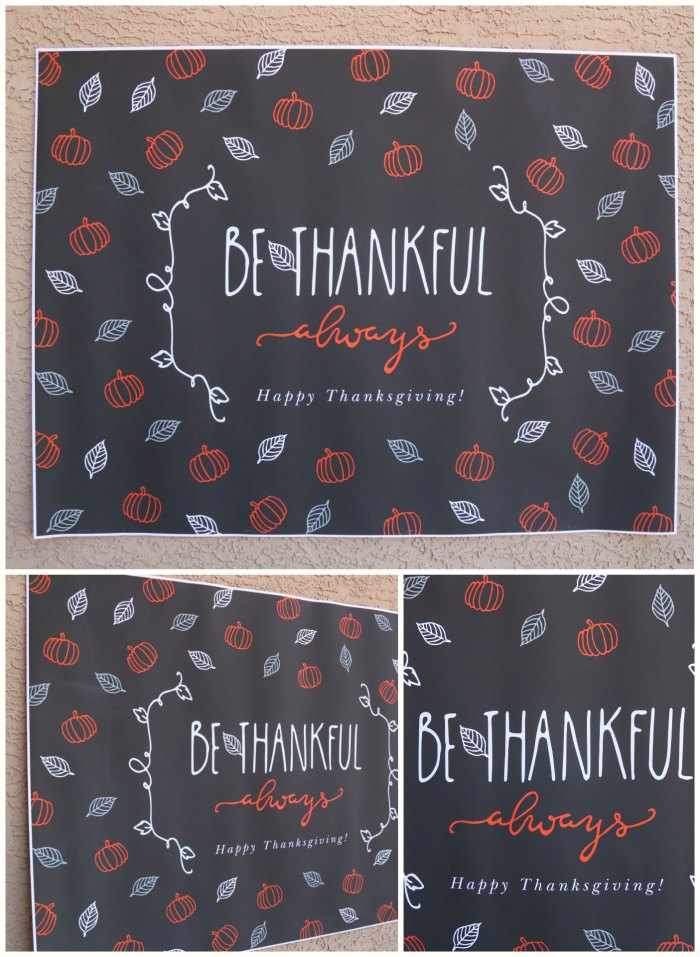 Be Thankful Thanksgiving Banner