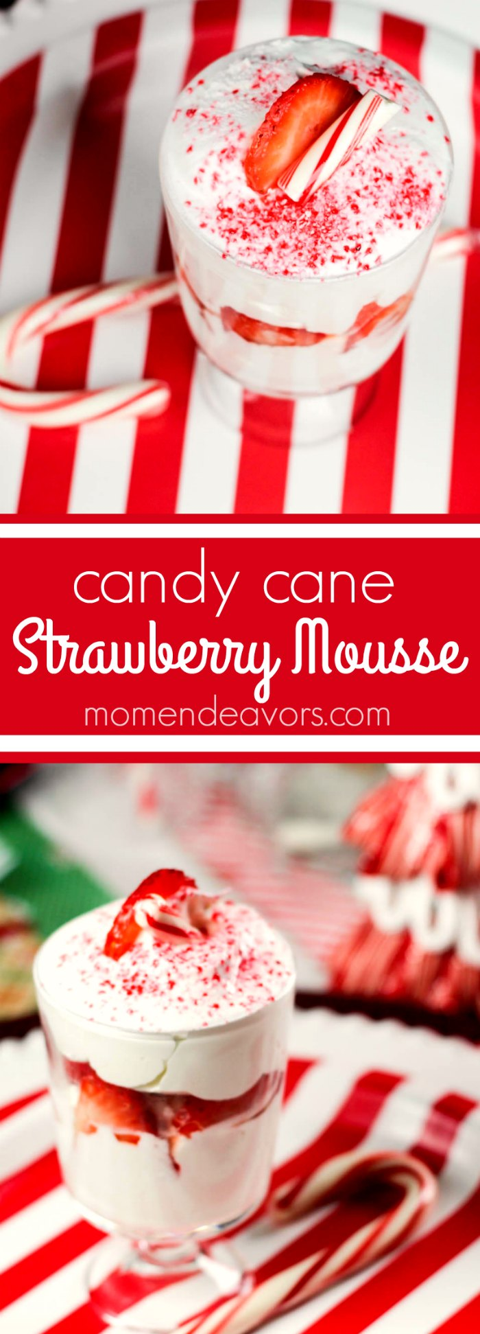 Candy Cane Strawberry Mousse