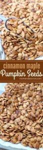 Cinnamon Maple Roasted Pumpkin Seeds