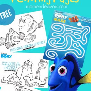 Finding Dory Printable Activities & Coloring Pages