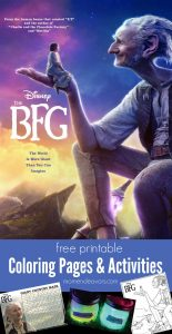 Disney's BFG Coloring Pages & Activities