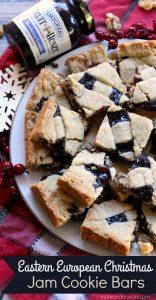 Eastern European Christmas Jam Cookie Bars