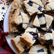 Eastern European Christmas Jam Cookie Bars