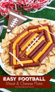 football meat & cheese tray
