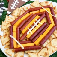 Easy Football Meat & Cheese Tray