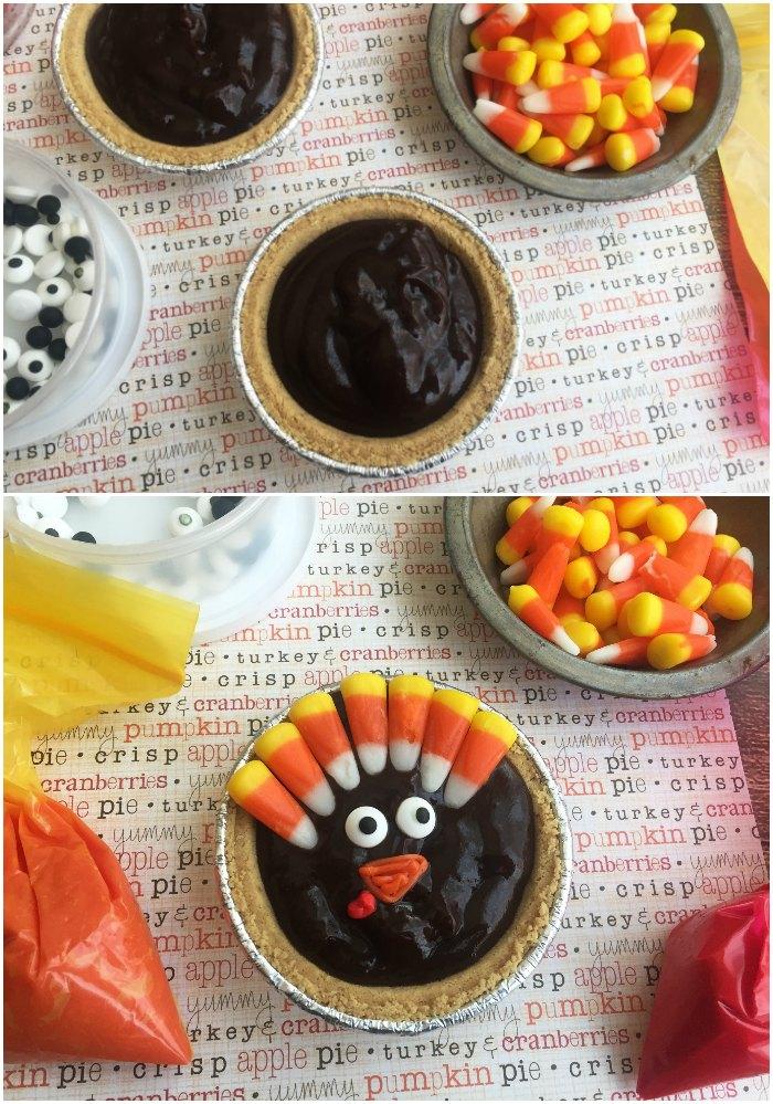 making turkey pies
