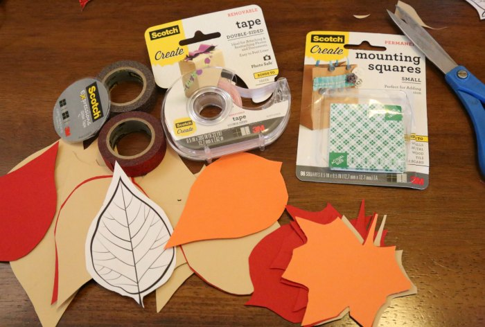 gratitude tree supplies