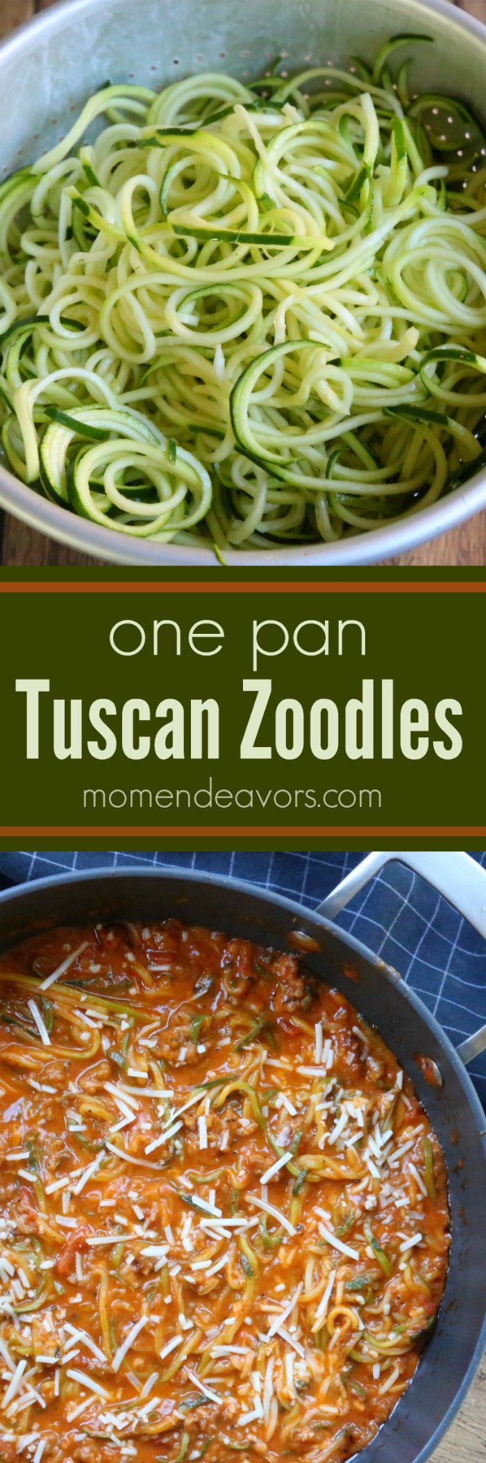 One pan tuscan zoodles