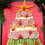 Easy Christmas Tree Meat & Cheese Board