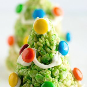 Christmas Tree Krispie Treats