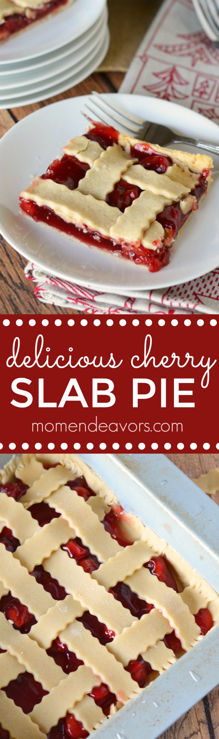 Delicious Cherry Slab Pie