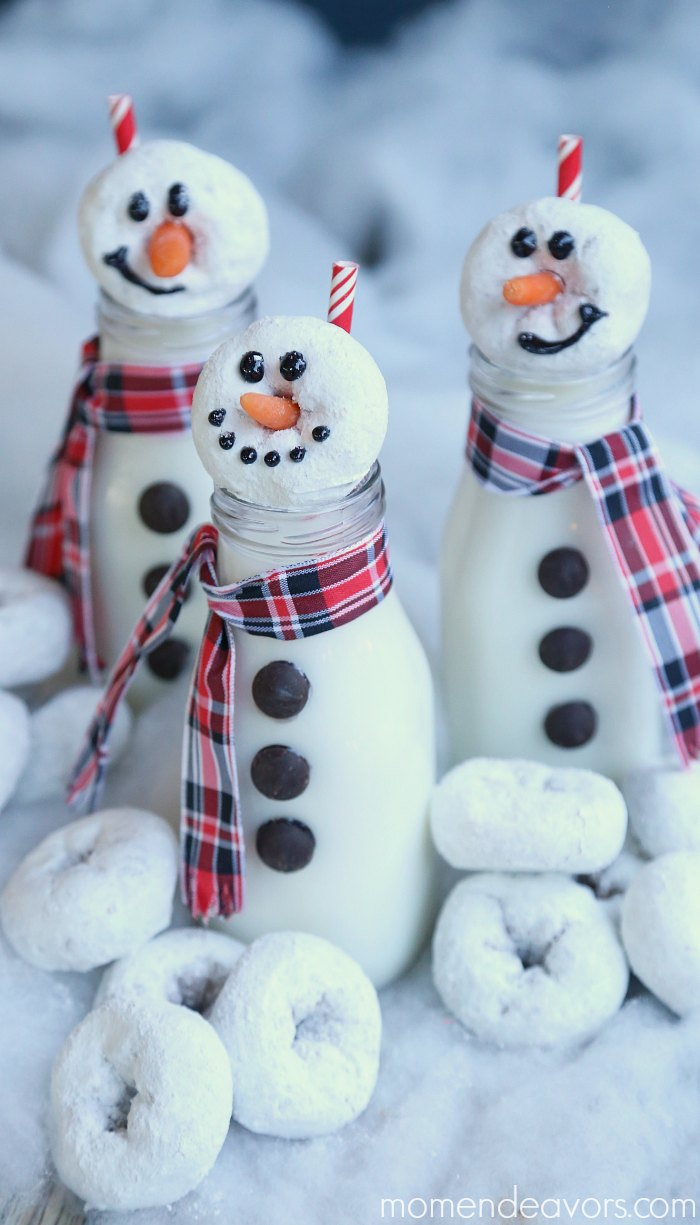 snowman-milk-donuts