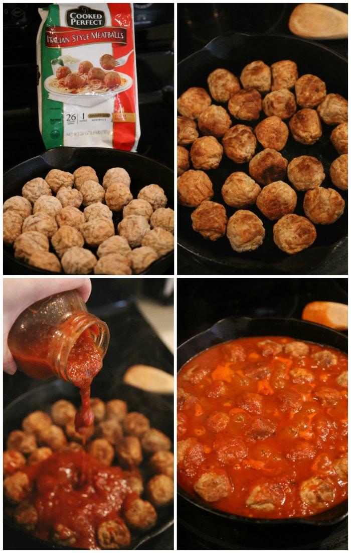 Making Skillet Meatballs