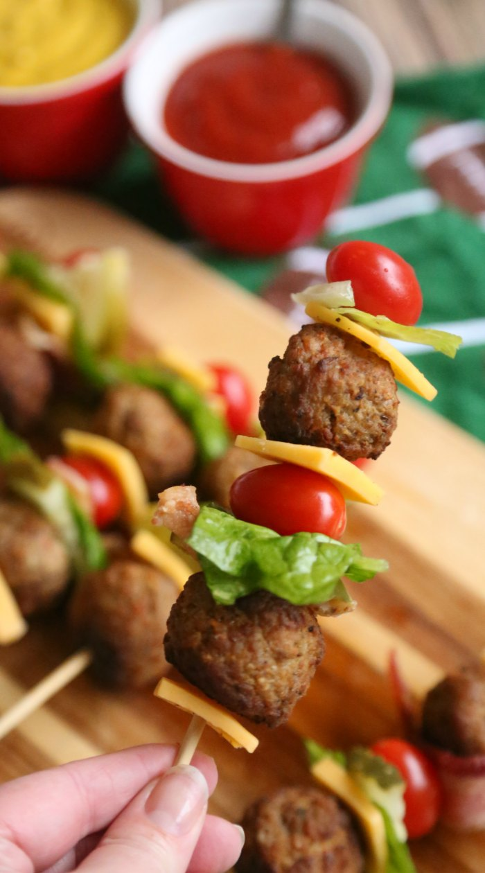 Meatball Cheeseburger Kabobs