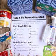Cold & Flu Season Printable Checklist