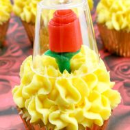 Beauty & the Beast Candy Rose Cupcakes