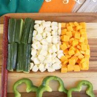Irish Flag St. Patrick's Day Snack Idea
