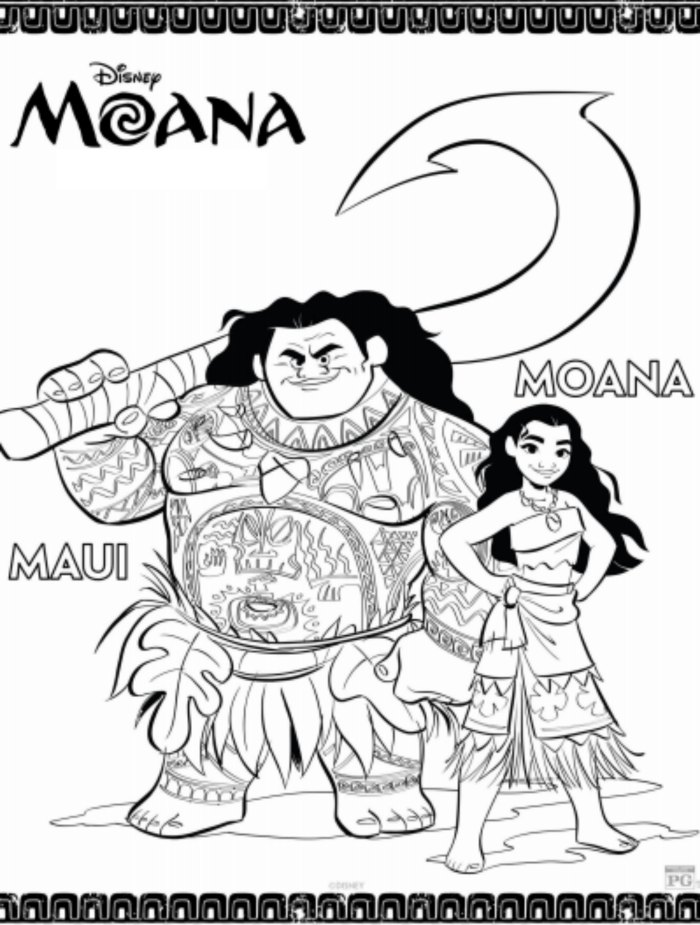 photograph about Printable Moana called MOANA Printable Routines Coloring Webpages
