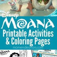 MOANA Printable Activities & Coloring Pages