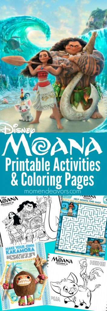 MOANA Printable Activities amp Coloring