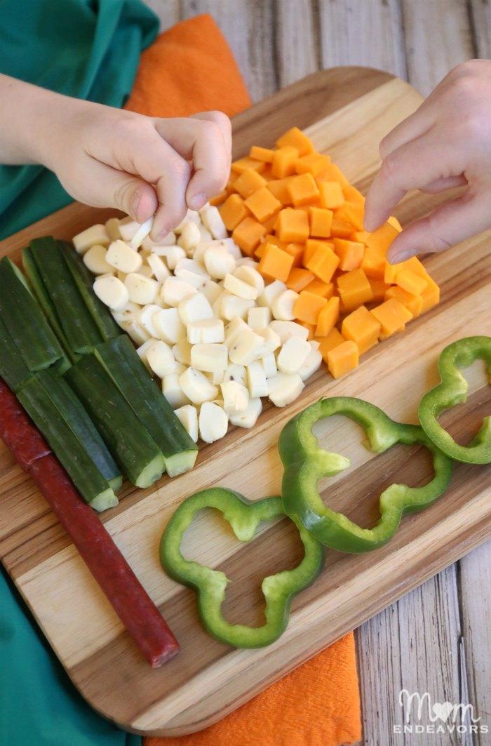 Irish Flag St. Patrick's Day Snack Idea