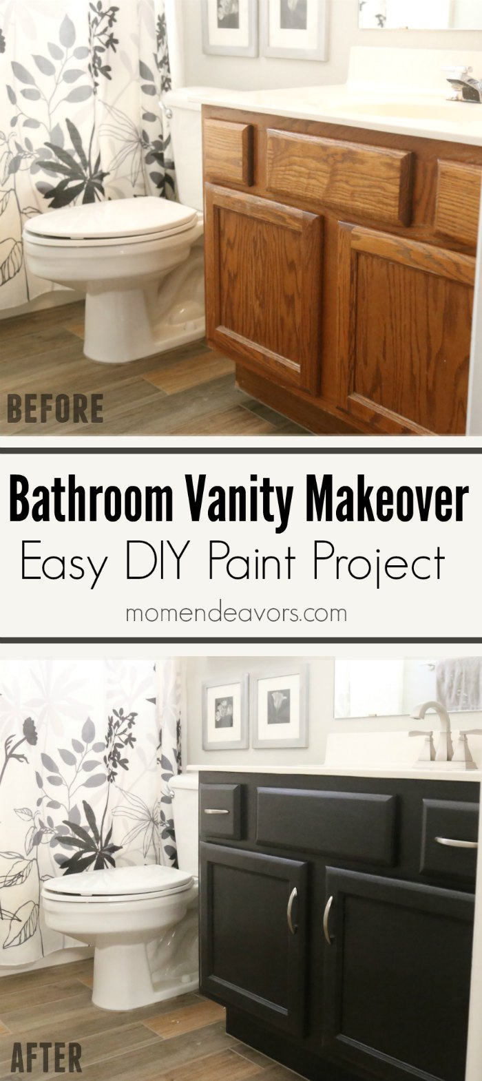 paint bathroom cabinets black bathroom vanity makeover easy diy home paint project 24224