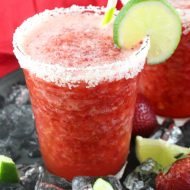 Non-Alcoholic Frozen Strawberry Margarita