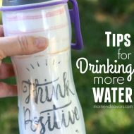 Tips for Drinking More Water – Hydration Challenge & 50 Strong Giveaway!!