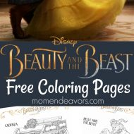 Disney's Beauty and the Beast Printable Coloring Pages