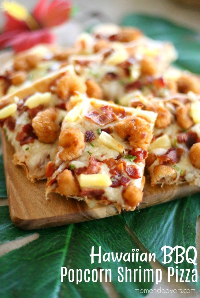 Hawaiian Bbq Popcorn Shrimp Pizza