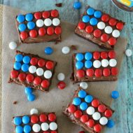 Candy Flag Brownies
