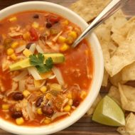 Slow Cooker Salsa Chicken Soup