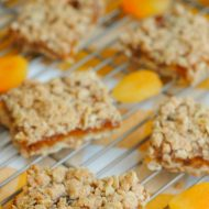 Apricot Oatmeal Crumble Bars